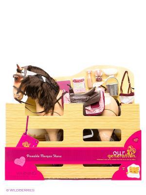 Лошадь с аксессуарами OG Dolls. Цвет: бежевый
