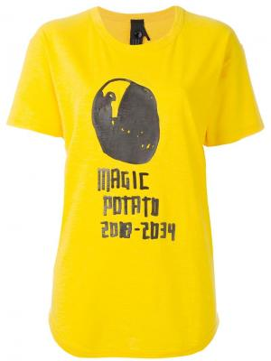 Футболка с принтом magic potato Bernhard Willhelm. Цвет: жёлтый и оранжевый