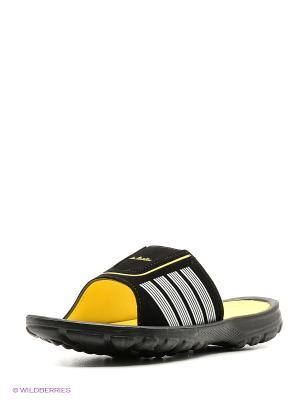 Шлепанцы LAMALIBOO. Цвет: черный, желтый