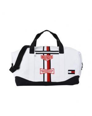 Дорожная сумка TOMMY HILFIGER. Цвет: белый