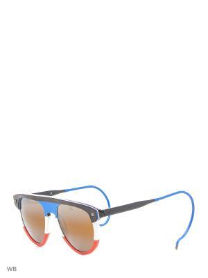 Солнцезащитные очки VL 1508 0002 SX2000 Vuarnet. Цвет: коричневый, белый, голубой