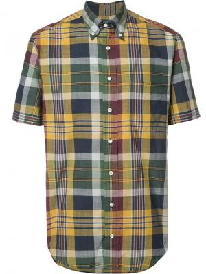 Рубашка в клетку Gitman Vintage. Цвет: жёлтый и оранжевый