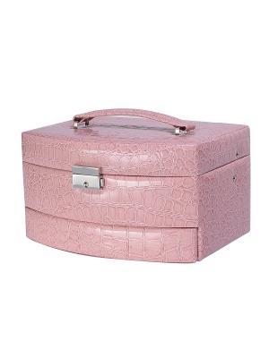 Шкатулка для украшений COSTWAY. Цвет: розовый