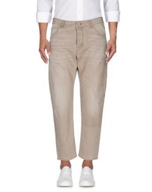 Джинсовые брюки HAIKURE. Цвет: бежевый