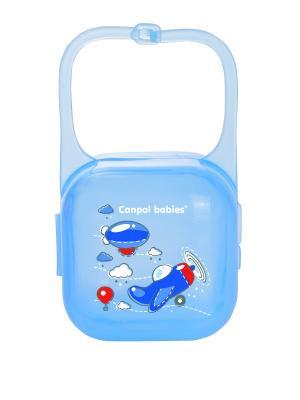 Контейнер для пустышки - Machines, цвет: синий, рисунок: самолетик Canpol babies. Цвет: синий