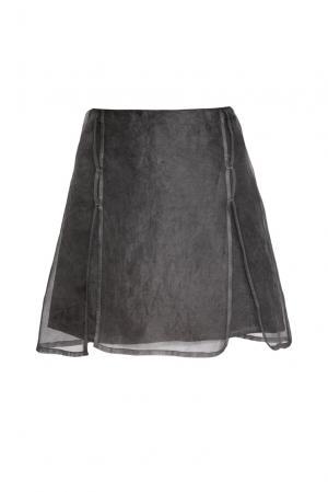 Юбка изо льна и шелка 161068 Un-namable. Цвет: серый