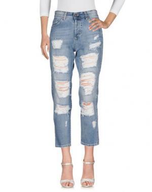 Джинсовые брюки SOUVENIR. Цвет: синий