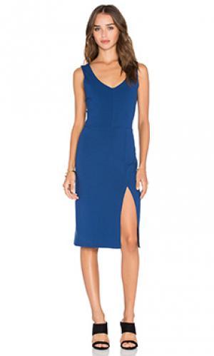 Платье viscose stretch twenty. Цвет: синий