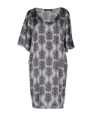 Короткое платье FISICO-CRISTINA FERRARI. Цвет: светло-серый