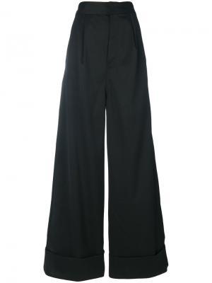 Широкие брюки Mm6 Maison Margiela. Цвет: чёрный