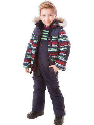 Куртка PlayToday. Цвет: синий, зеленый, красный, белый