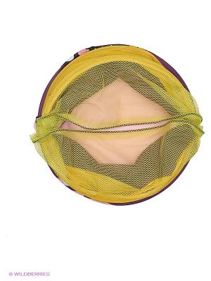 Корзина 38*45см, Кошка Amico. Цвет: фиолетовый, желтый