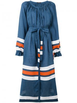 Платье-макси с полосками Vita Kin. Цвет: синий