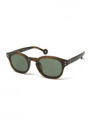 Солнцезащитные очки HALLY & SON. Цвет: коричневый