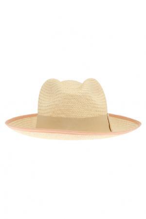 Соломенная шляпа Classico Natural Artesano. Цвет: кремовый, лососевый