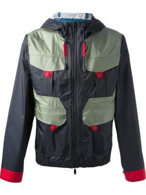 Куртки Moncler W. Цвет: синий