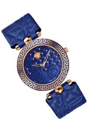 Часы наручные Versace. Цвет: золотой, синий