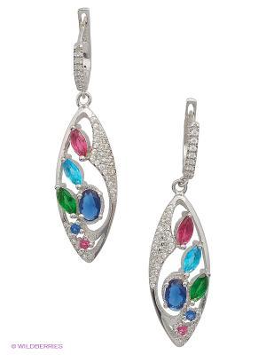 Серьги BALEX. Цвет: серебристый, малиновый, синий, зеленый, голубой