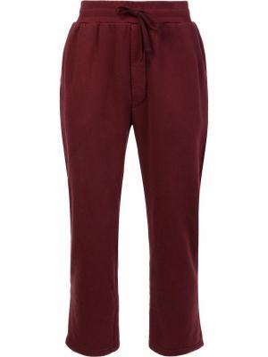 Спортивные брюки с эластичным поясом 321. Цвет: красный