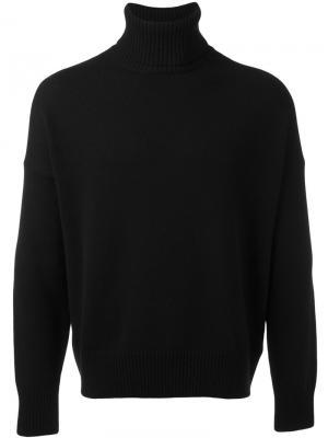 Свободный свитер-водолазка Ami Alexandre Mattiussi. Цвет: чёрный