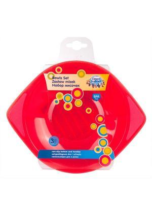 Набор  мисок (3 шт.) Canpol babies. Цвет: красный