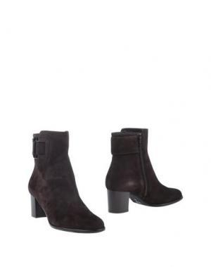 Полусапоги и высокие ботинки ZOCAL. Цвет: какао
