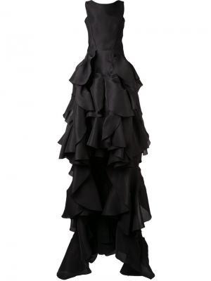 Вечернее платье Vanquished с оборками Maticevski. Цвет: чёрный