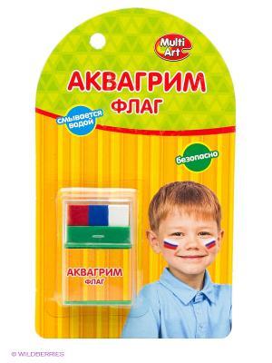 Аквагрим мелки Флаг Multiart. Цвет: зеленый, коричневый