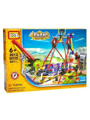 Электромеханический конструктор LOZ PARK. Серия: Парк развлечений. Качели. Цвет: синий