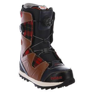 Ботинки для сноуборда  Binary Boa 13 Navy/Brown/White Thirty Two. Цвет: коричневый