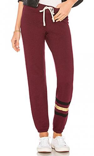 Свободные брюки SUNDRY. Цвет: вишня