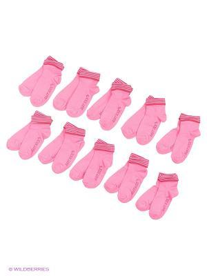 Носочки детские Тульский трикотаж (комплект 10 пар). Цвет: розовый