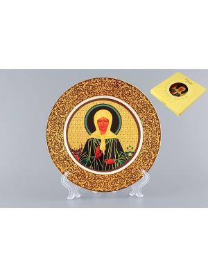 Тарелка декоративная Матрона Московская Elan Gallery. Цвет: золотистый