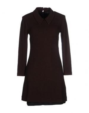 Короткое платье AMERICAN RETRO. Цвет: темно-коричневый
