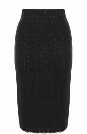 Буклированная юбка-карандаш Alexander McQueen. Цвет: черный
