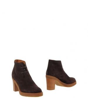 Полусапоги и высокие ботинки VERONIQUE BRANQUINHO. Цвет: темно-коричневый