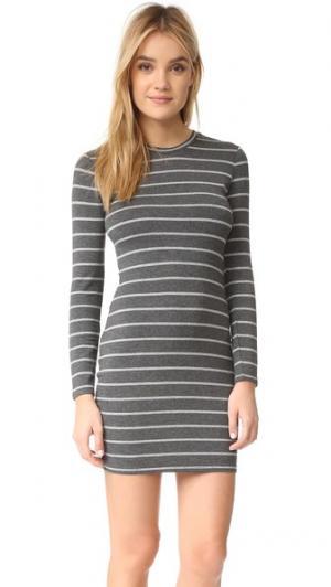 Платье в полоску Malbec с перекрученным элементом сзади cupcakes and cashmere. Цвет: умеренно-серый меланж