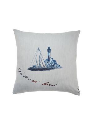 Подушка Океанис Блу T&I. Цвет: голубой