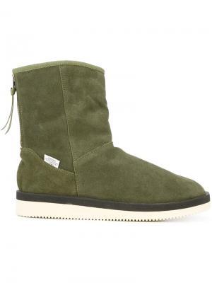 Ботинки с подкладкой из овчины Suicoke. Цвет: зелёный