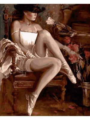 Наборы Для Рисования (40*50) Девушка В Шляпе  Худ. Ирэн Шири Menglei. Цвет: белый