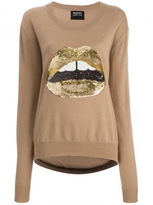 Свитер gold lips Markus Lupfer. Цвет: коричневый