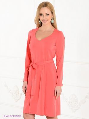 Платье Spicery. Цвет: светло-коралловый