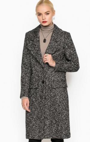 Пальто из шерсти и хлопка на пуговицах DRYKORN. Цвет: серый