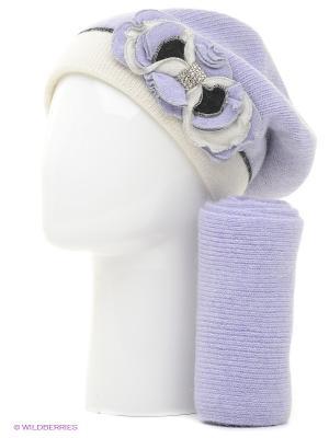 Шапка, шарф Vittorio Richi. Цвет: сиреневый
