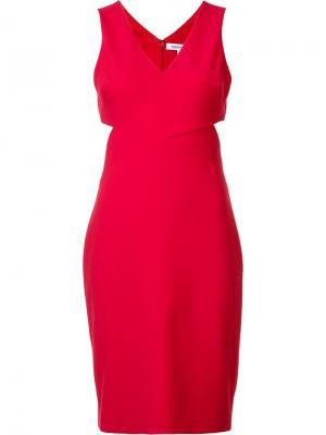 Платье с вырезными деталями Elizabeth And James. Цвет: красный