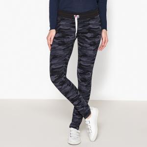 Брюки с рисунком SWEET PANTS. Цвет: синий камуфляж