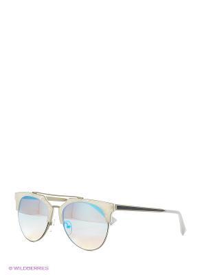 Солнцезащитные очки Vita pelle. Цвет: голубой, белый
