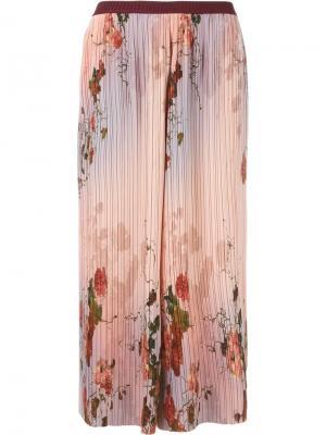 Укороченные плиссированные брюки Antonio Marras. Цвет: розовый и фиолетовый