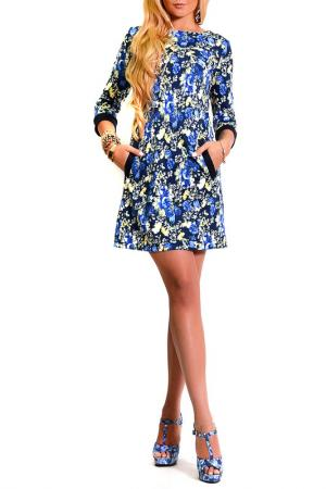 Платье LASKANY collezioni. Цвет: мультицвет