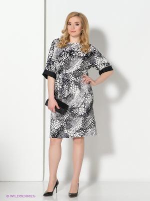 Платье Spicery. Цвет: серый, белый, черный